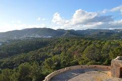 Vue panoramique de château Bellver images stock