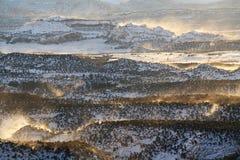 Vue panoramique de chemin détourné scénique de l'itinéraire 12 d'état de l'Utah Image libre de droits