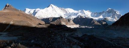 Vue panoramique de Cho Oyu Photographie stock libre de droits