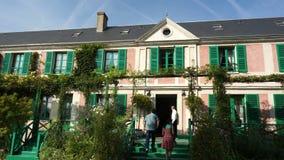 Vue panoramique de Claude Monet Home banque de vidéos