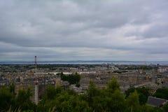 Vue panoramique de colline de Calton à Edimbourg au centre et au port de la ville, l'Ecosse Images stock