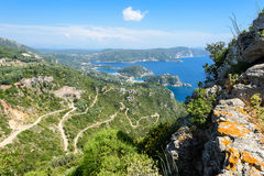 Vue panoramique de compartiment de Paleokastritsa Photos stock