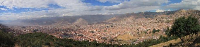 Vue panoramique de Cusco photographie stock