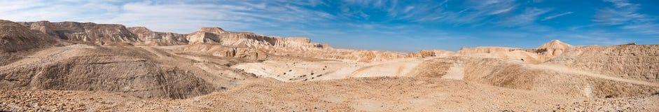 Vue panoramique de désert du Néguev Image libre de droits