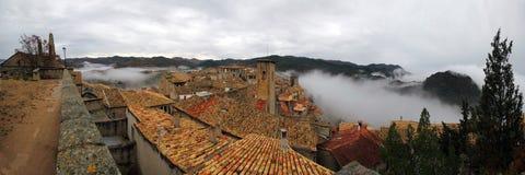 Vue panoramique de del Rey Catolico de SOS du château Images stock