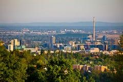 Vue panoramique de district des affaires de Zagreb Images stock