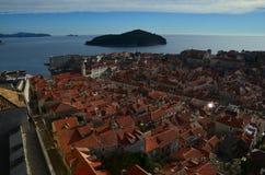 Vue panoramique de Dubrovnik Image libre de droits
