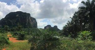 Vue panoramique de falaises image stock