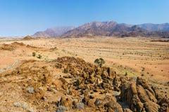Vue panoramique de gamme de montagne de Brandberg photo stock