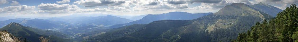 Vue panoramique de Ganekogorta Image stock
