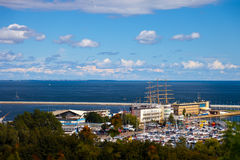 Vue panoramique de Gdynia Photographie stock libre de droits