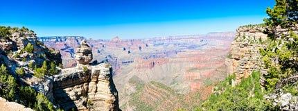 Vue panoramique de gorge grande Images stock
