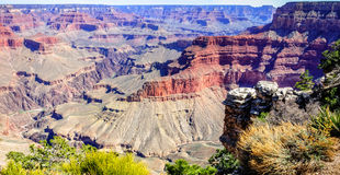 Vue panoramique de Grand Canyon au point de Pima Photographie stock libre de droits