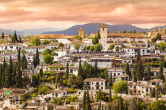 Vue panoramique de Grenade, Andalousie, Espagne Photographie stock