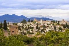 Vue panoramique de Grenade, Andalousie, Espagne Image stock