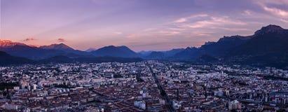 Vue panoramique de Grenoble Photographie stock
