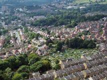 Vue panoramique de Halifax dans West Yorkshire avec les rues en terrasse photo stock