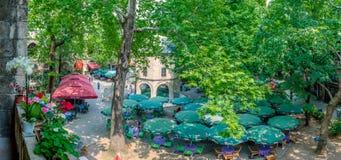 Vue panoramique de haute résolution de Koza Han (bazar en soie) à Brousse, Turquie photos libres de droits