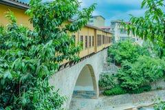 Vue panoramique de haute résolution de pont d'Irgandi image stock