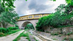 Vue panoramique de haute résolution de pont d'Irgandi photographie stock