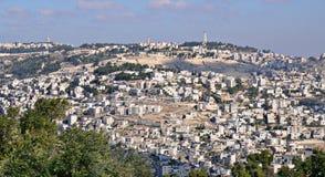 Vue panoramique de Jérusalem image libre de droits