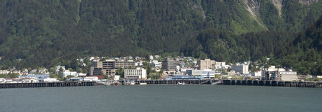 Vue panoramique de Juneau, capital de l'Alaska photo libre de droits