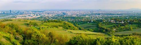 Vue panoramique de Kahlenberg à Vienne, Autriche images stock