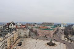 Vue panoramique de Kiev Avec le monastère de St Michael à l'arrière-plan image stock