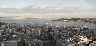 Vue panoramique de klaxon d'or Photos stock