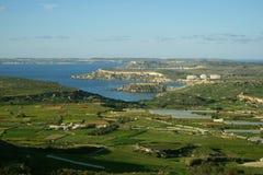 Vue panoramique de l'hiver Malte Photographie stock