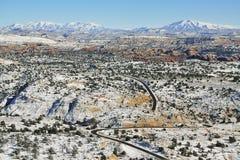 Vue panoramique de l'itinéraire 12 d'état de l'Utah Image libre de droits