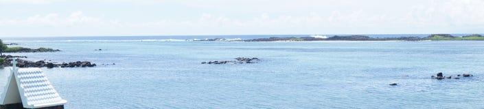 Vue panoramique de l'Océan Indien de la côte du sud-est des Îles Maurice photo libre de droits