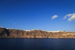 Vue panoramique de la caldeira dans Santorini Photos stock