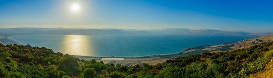Vue panoramique de la mer de la Galilée photo stock