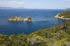 Vue panoramique de la mer Méditerranée Photos stock
