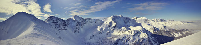 Vue panoramique de la montagne occidentale de Tatra d'hiver Rohace Photo libre de droits