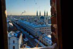 Vue panoramique de la mosquée de sharif de Kul et du sabor d'annonce images libres de droits