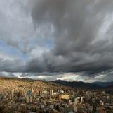Vue panoramique de La Paz Photo libre de droits