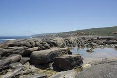 Vue panoramique de la plage rocheuse Augusta West Australia en été Photo stock