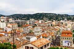 Vue panoramique de la vieille ville de Cannes, France Cote d'Azur photographie stock libre de droits