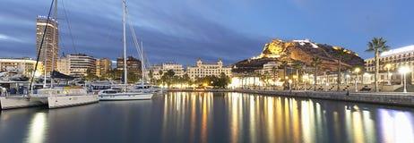 Vue panoramique de la ville d'Alicante photo stock