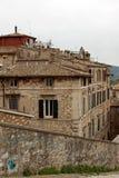 Vue panoramique de la ville de Pérouse Image libre de droits