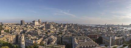 Vue panoramique de la ville de Gênes, Italie photo stock