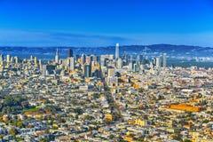 Vue panoramique de la ville de San Francisco photographie stock libre de droits