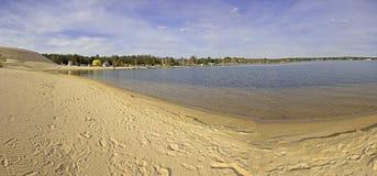 Vue panoramique de lac argenté Image libre de droits