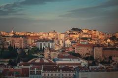 Vue panoramique de Lisbonne images stock