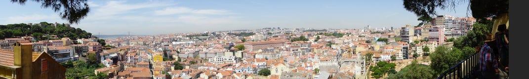 Vue panoramique de Lisbonne Image stock