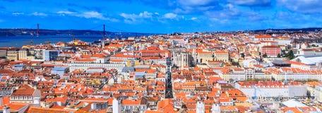 Vue panoramique de Lisbonne, Portugal photo stock