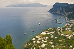 Vue panoramique de littoral, Capri Italie Photographie stock