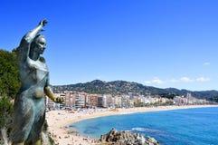 Vue panoramique de Lloret de Mar, en Espagne Images stock